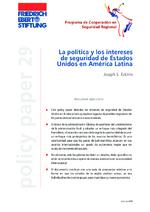 La política y los intereses de seguridad de Estados Unidos en América Latina