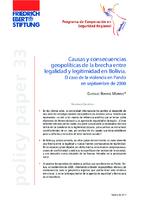 Causas y consecuencias geopolíticas de la brecha entre legalidad y legitimidad en Bolivia