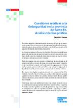 Cuestiones relativas a la (in)seguridad en la provincia de Santa Fe