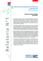 Observatorio Colombiano de Ciolencia y Gobernanza