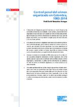 Control penal del crimen organizado en Colombia