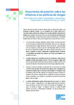 Documento de posición sobre las reformas a las políticas de drogas