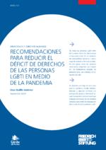 Recomendaciones para reducir el déficit de derechos de las personas LGBTI en medio de la pandemia